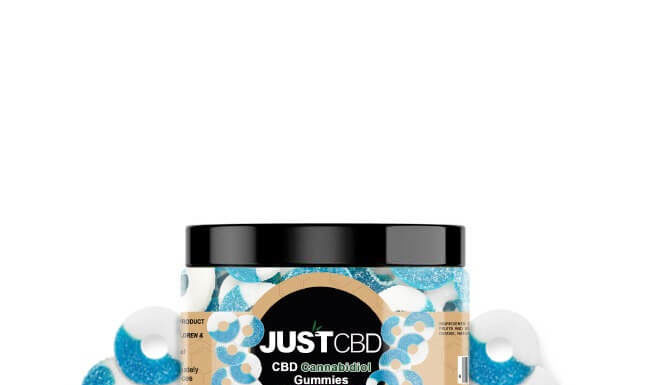 Blue Raspberry Gummy Jar by Just CBD Review